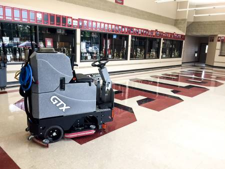 hire ride-on scrubber dryer